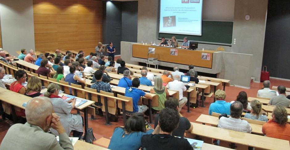 Retraites - Enseignement supérieur-recherche : l'Université pense des alternatives avec le Parti Communiste Français et le Front de Gauche