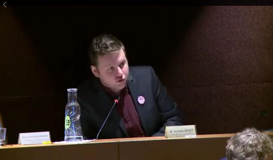 Intervention d'Antoine Splet au conseil de l'Eurometropole