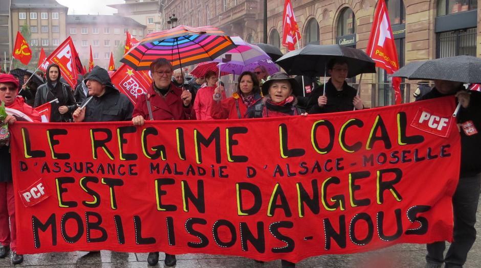 LE PCF LANCE L'INITIATIVE : « 6 MOIS POUR LE REGIME LOCAL »  d'Assurance Maladie d'Alsace-Moselle