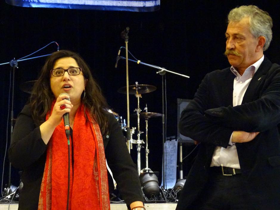 Intervention de Hülliya TURAN à la fête de l'Humanité à Strasbourg le 29 avril