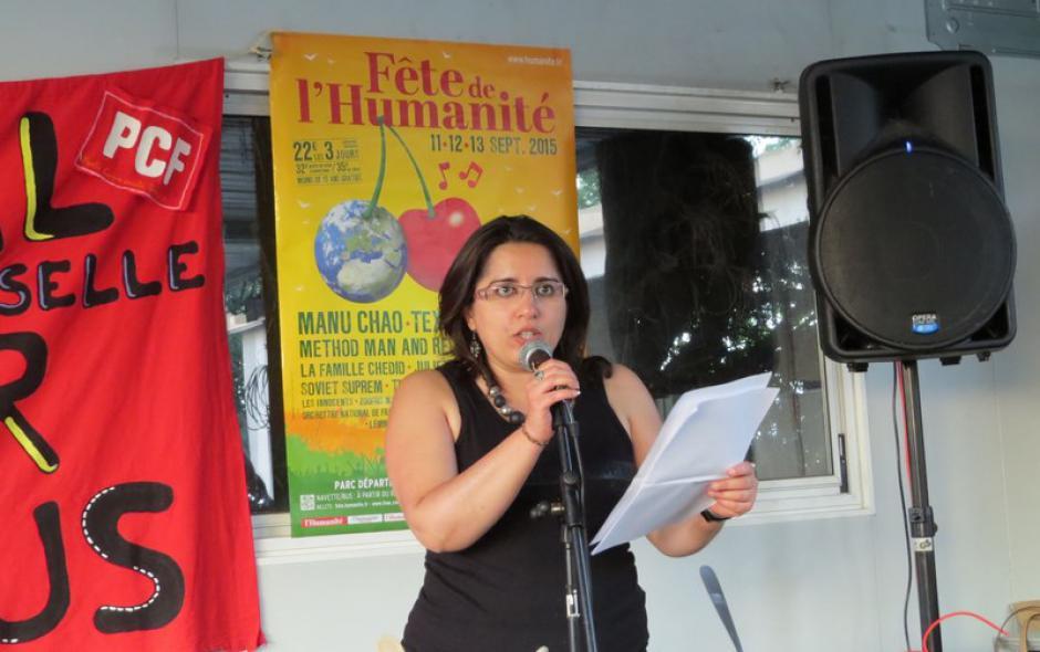 Hülliya TURAN cheffe de file des communistes bas-rhinois pour les Régionales 2015 nous déclare :