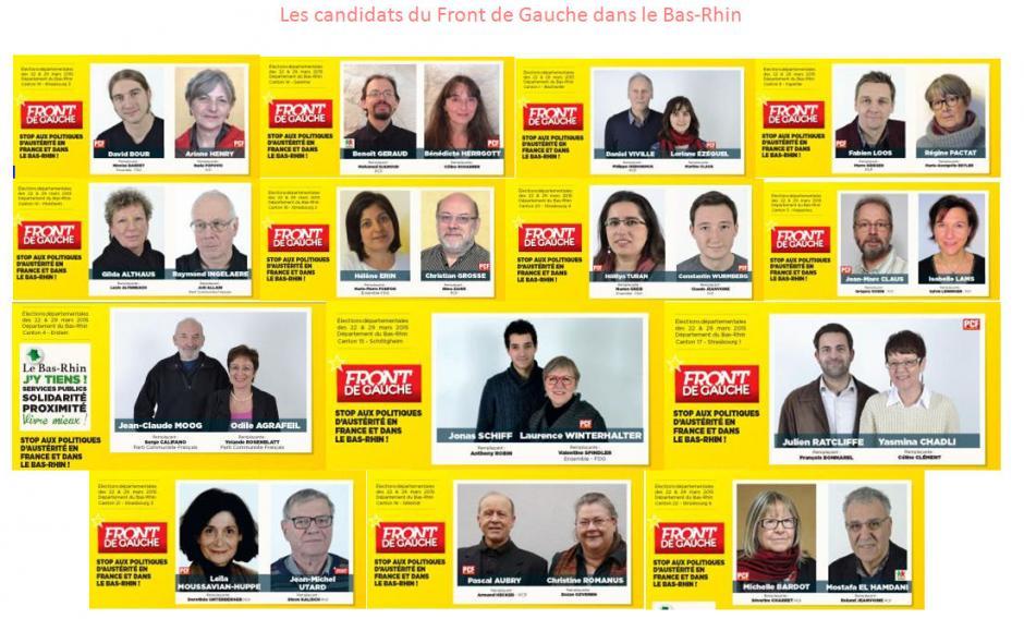 Les candidats du Front de Gauche dans le Bas-Rhin
