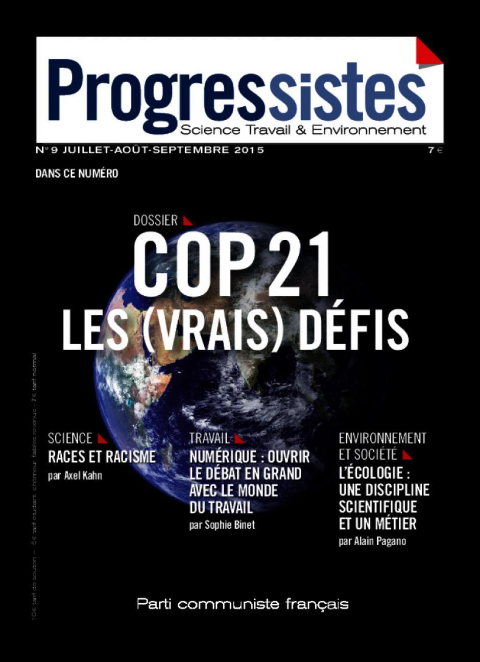 Progressistes n°9 Juillet Aout Septembre 2015