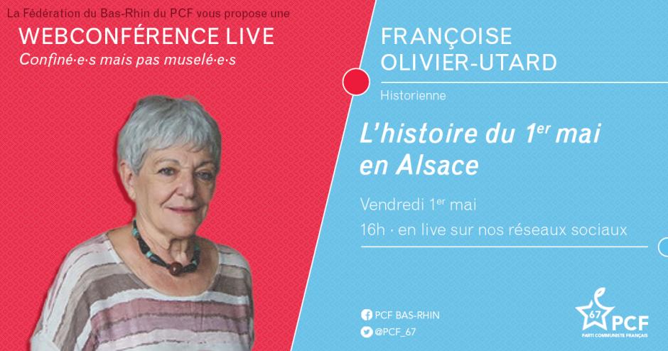 Une webconférence de Françoise Olivier-Utard sur l'histoire du 1er mai en Alsace : le 1er mai à 16h