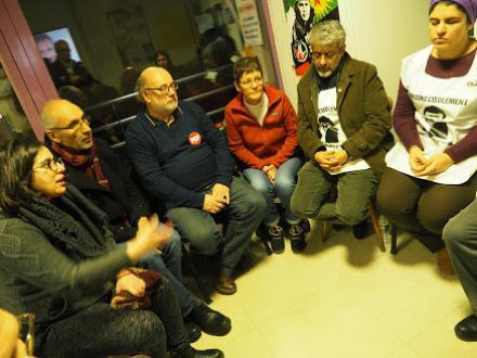 Une délégation du PCF a porté son soutien aux 15 grévistes de la faim kurdes (depuis le 17 décembre)